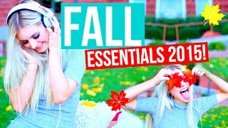 Fall Inspiration 2015! Essentials, Treats & Music! | Aspyn Ovard