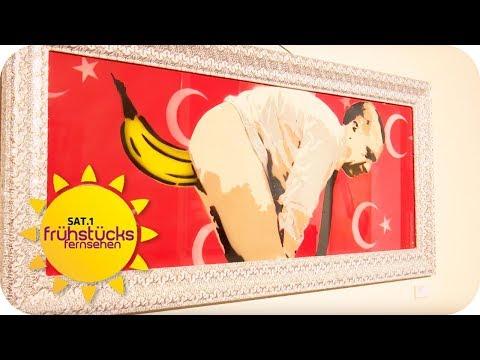 Erdogan mit Banane im Po! Kunstfreiheit oder Beleidigung? | SAT.1 Frühstücksfernsehen | TV