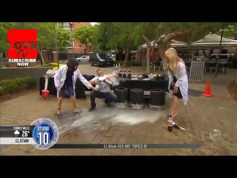 Dramatic moment Coke and liquid nitrogen experiment goes wrong on Studio 10