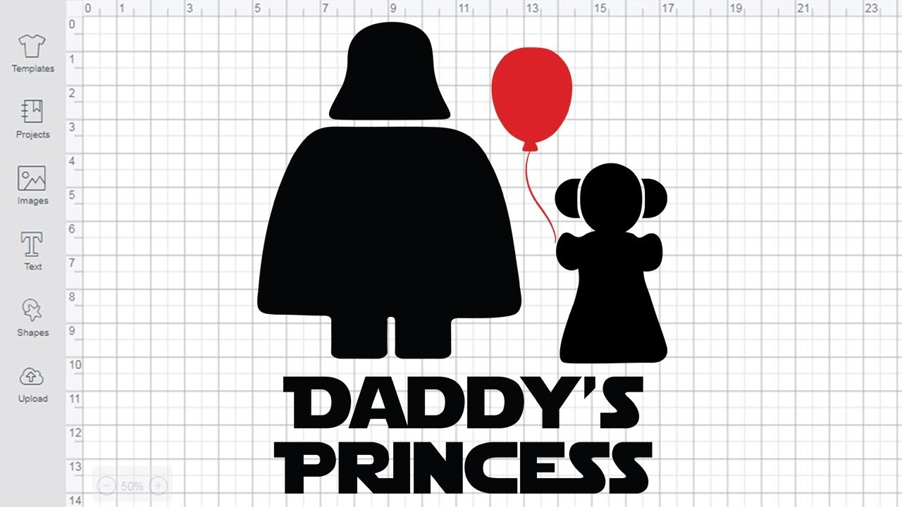 Daddy's Princess SVG cut file for Cricut Silhouette Star Wars svg