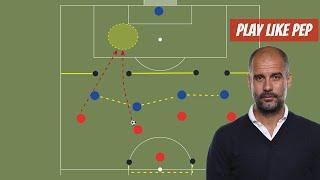 Training: 4vs4 Attack Half-Spaces Like Pep Guardiola.
