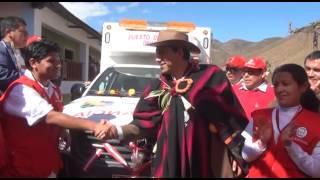 Presdente Javier Alvarado entrega dos ambulancias al distrito de Ihuarí - Huaral