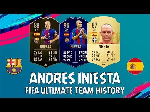 ANDRES INIESTA   FIFA ULTIMATE TEAM HISTORY   FIFA 10 - FIFA 18