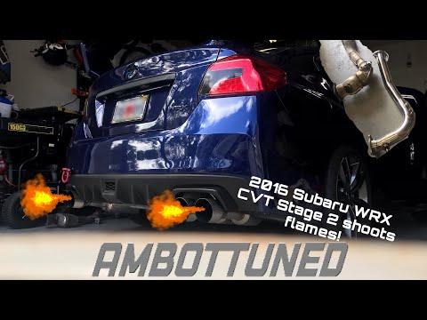 2016 Subaru WRX CVT Stage 2+ Ambottuned Shoots Flames! (***NOT CLICKBAIT***) Go-pro Footage