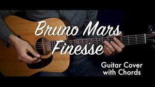 Bruno Mars - Finesse guitar cover/guitar (lesson/tutorial) w Chords /play-along/