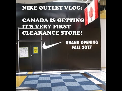 afa05fd6f82d64 Nike Outlet Vlog  Canada Is Getting It s FIRST EVER Nike Clearance Store!!!