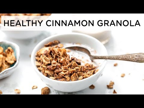 The Best HEALTHY GRANOLA with Apples & Cinnamon | GF & VEGAN