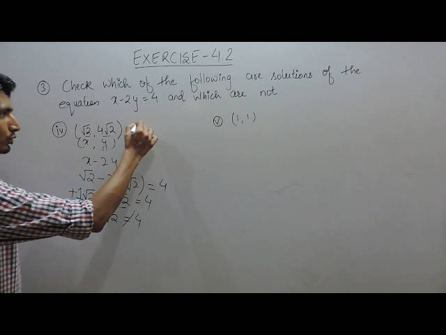 chapter 4 Linear Equations in Two Variables class 9 maths ncert solutions | Exercise 4.2 q 3 (iv,v)