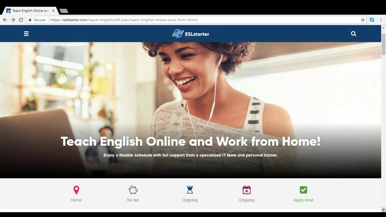 Work from home teaching english online