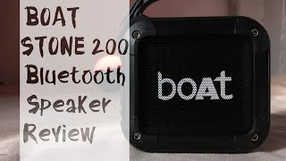 Boat Stone 200 Bluetooth speaker REVIEW