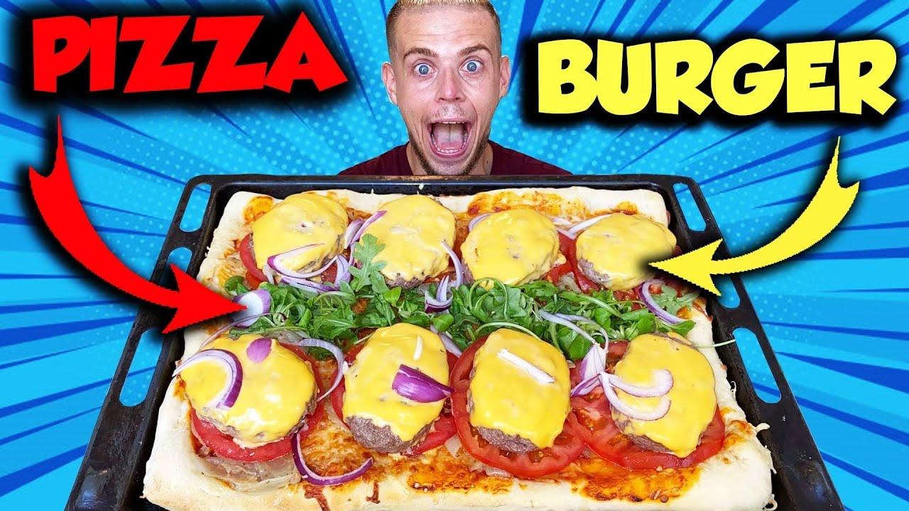 JE MANGE une PIZZA BURGER XXL !! + 4 KG !