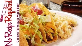 Ground Beef Tacos - By Noreciperequired.com