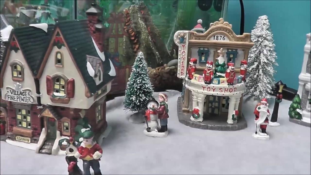 Mini Christmas Village Display.Mini Christmas Village Display 2016
