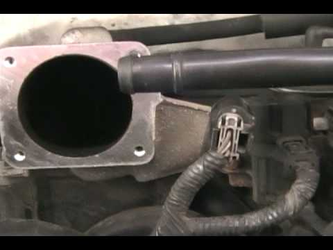 Changing Idle Air Control and Throttle Position Sensor - YouTube
