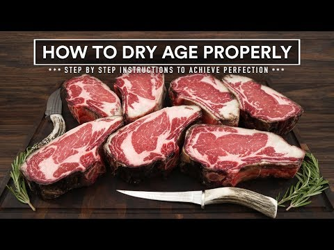 How to DRY AGE BEEF AT HOME Properly - 45 Day Aged Bone in Ribeye