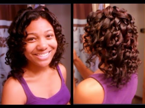 Wand Curls On My Relaxed Hair Jerome Russell Hair Color Youtube