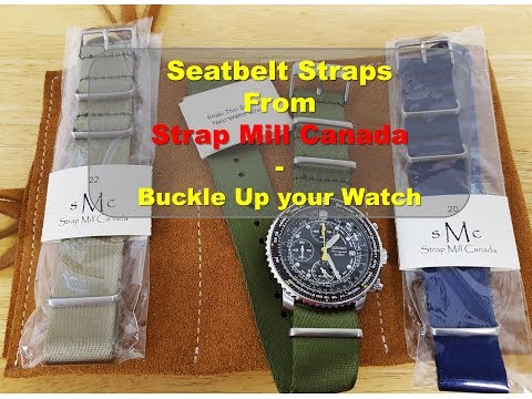 Seatbelt Straps From Strap Mill Canada - Buckle Up Your Watch!