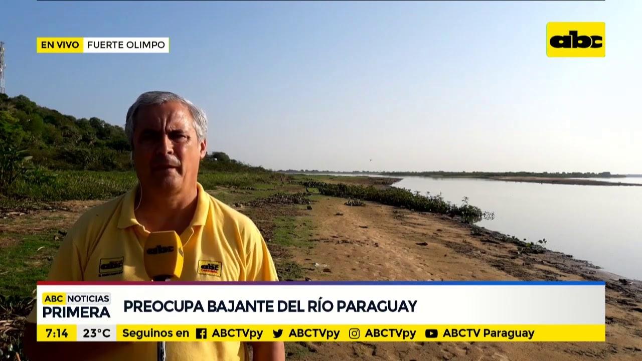 Preocupa bajante del Río Paraguay en el Chaco - YouTube