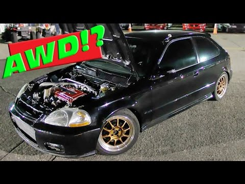 Awesome 700hp AWD Turbo Civic!