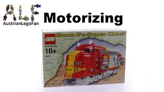 How to Motorize Lego 10020 Santa Fe Super Chief with 9v Motor - Lego Speed Build Review
