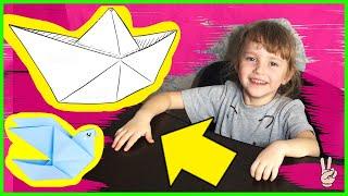 Делаем оригами кораблик с Тасей! Развлечения для детей, развитие. Видео для детей