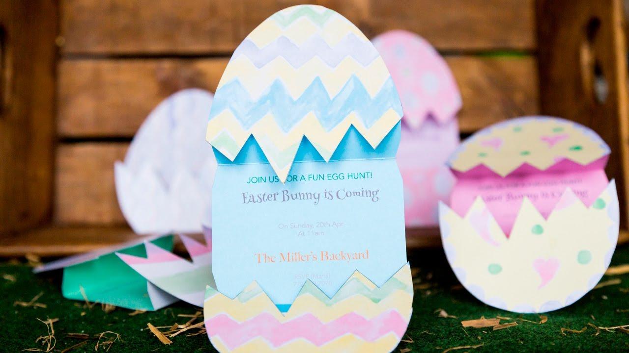 Cómo Hacer Una Invitación De Pascua Invitación Huevos Pintos