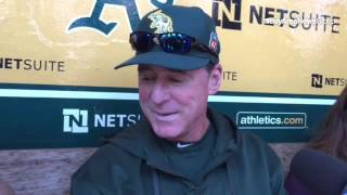 A's mgr Bob Melvin talks about just how good a basketball player Chris Bassitt is and talks about wh