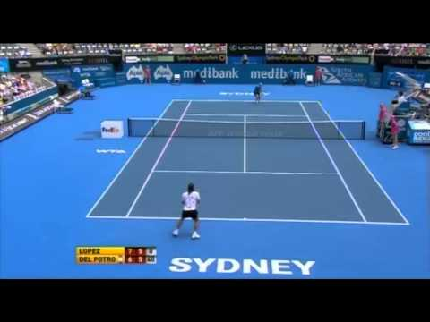 Medibank International Sydney: Lopez vs Del Potro Highlights