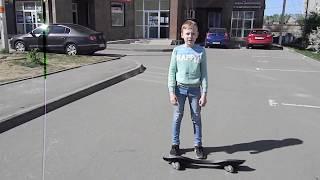 Как запрыгивать на поребрик, как прыгать, трюки на вейвборде, рипстике, двухколесном скейте.