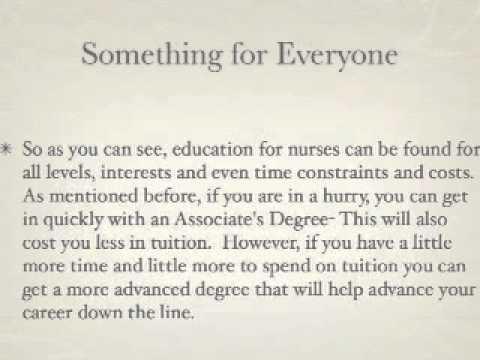 Nursing Education: Were to Start