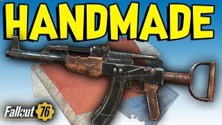 Fallout 76 - RARE HANDMADE WEAPON GUIDE! Spawn Location, Handmade Gun Plans, & Modifications
