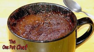 5 Minute Nutella Mug Cake | One Pot Chef