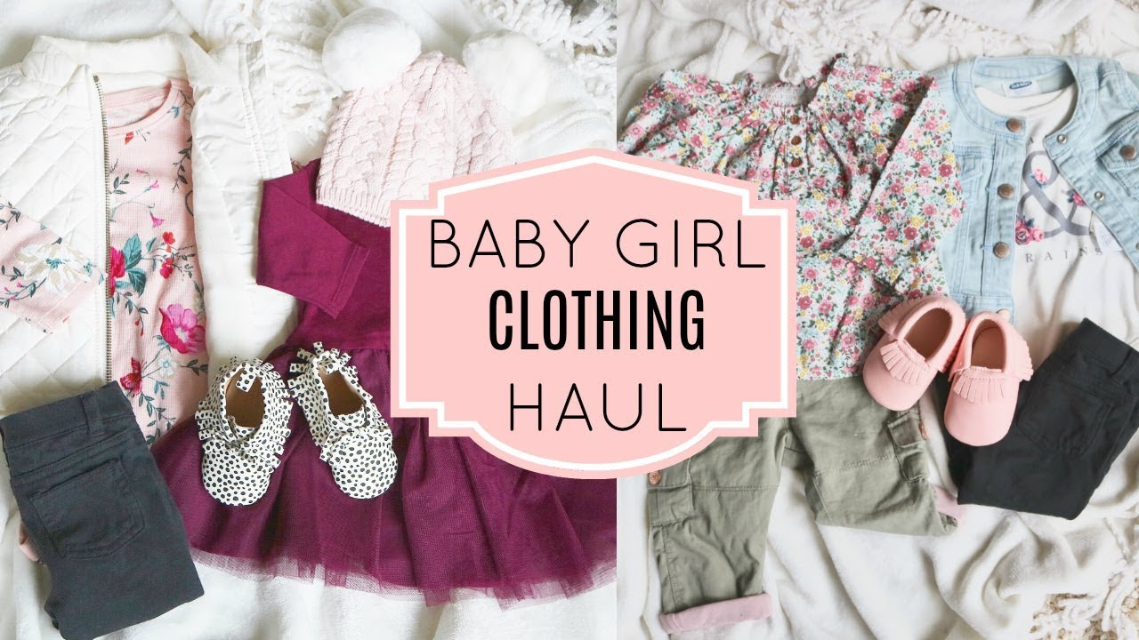 Fall Baby Girl Clothing Haul Part 2 Old Navy Carters Baby Gap