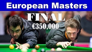 [MUST SEE] Ronnie O'SULLIVAN vs Judd TRUMP ᴴᴰ | FINAL European Masters Snooker