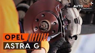 Comment changer Kit de plaquettes de frein OPEL ASTRA G Hatchback (F48_, F08_) - video gratuit en ligne