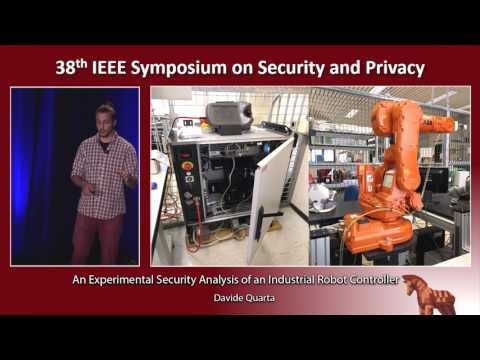 An Experimental Security Analysis of an Industrial Robot Controller