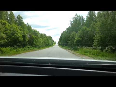 Трасса Медвежьегорск (фильм Любовь и глуби)-Пудож 300 км по тайге и убитым дорогам
