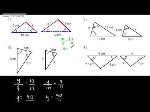 GCSE Maths - Similar Triangles Full tutorial (Similarity - Congruent ...