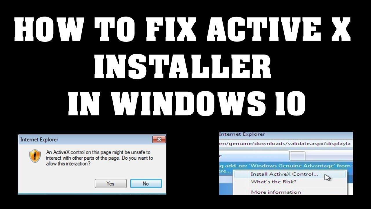 activex download for windows 10