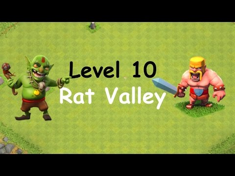 Clash Of Clans - Single Player Campaign Walkthrough - Level 10 - Rat Valley