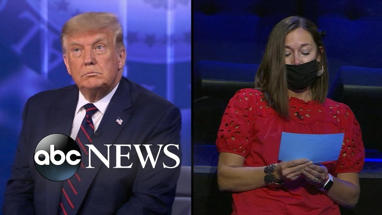 Trump On Abc News Town Hall Trump Responds To Question On Us S Racial Inequalities Youtube