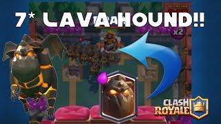 7x lava hound  clash royale 2016