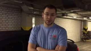 Спойлер от компании MV-Tuning при клееный на герметик