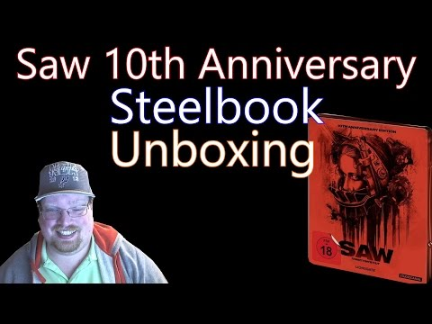 Saw 10th Anniversary ( Germany ) Steelbook Blu-Ray Unboxing