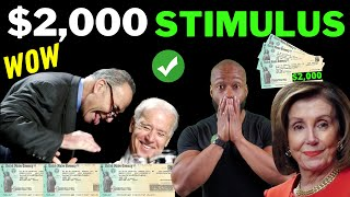 JUST SIGNED!! $2000 Third Stimulus Check Update + [EXECUTIVE ORDERS]
