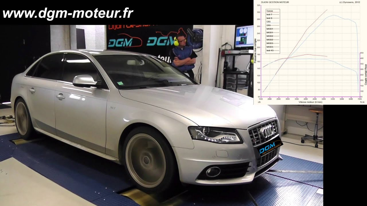 reprogrammation audi s4 3 0l tfsi 333 ch dijon gestion moteur youtube. Black Bedroom Furniture Sets. Home Design Ideas