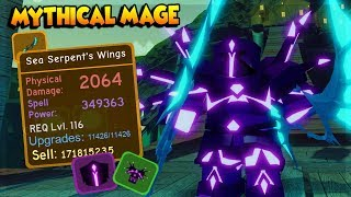 NEW MAGE LEGENDARY *NEAR MAX MAGE LOADOUT* FROM GHASTLY HARBOR IN DUNGEON QUEST ROBLOX