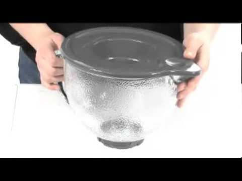 KitchenAid 5 Qt Hammered Glass Bowl With Pouring Spout, Lid SKU:#8120171    YouTube