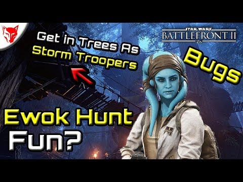 Ewok Hunt, Bugs, Storm Trooper in Trees! - Star Wars Battlefront 2
