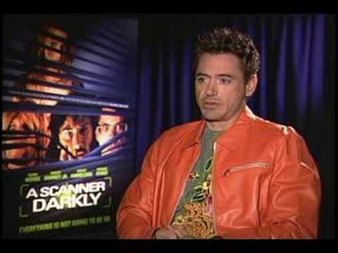 ROBERT DOWNEY JR. REACTS TO PARANOIA IN A SCANNER DARKLY